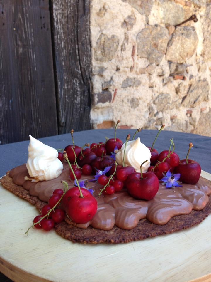 Tarte chocolat fruits